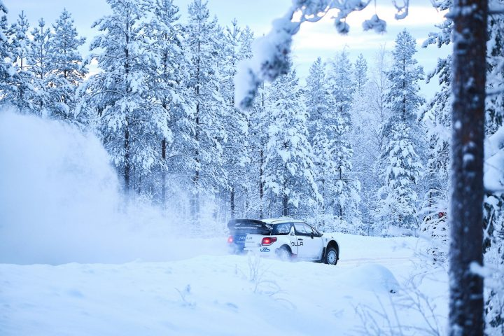 Valtteri Bottas Nolla-autolla Arctic Lapland Rallyyn
