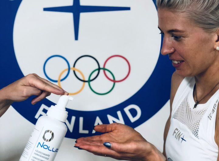 Nolla Käsidesivaahto oli urheilijoilla ja huoltojoukoilla käytössä Tokion Olympialaisissa