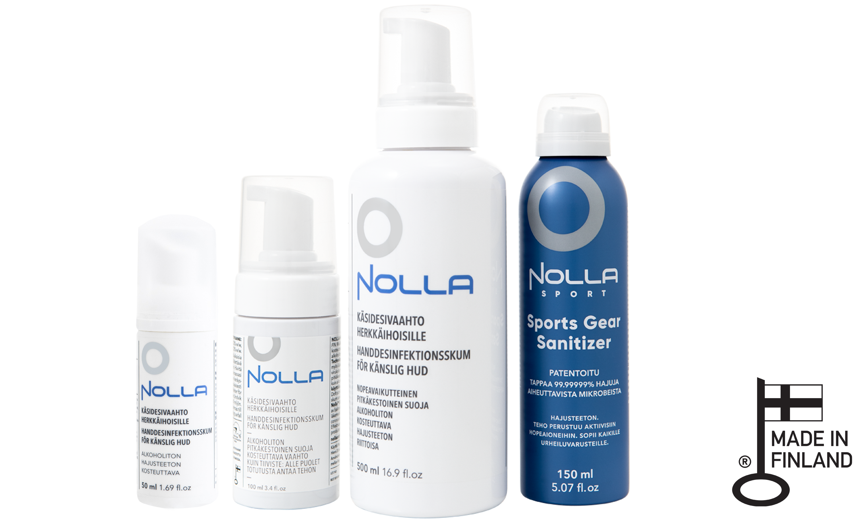 Nolla Antimicrobial products have Key Flag Symbol