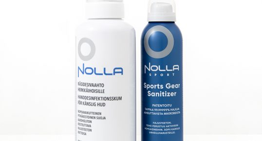 Nolla Antimicrobial käsidesivaahto ja Sports Gear Sanitizer
